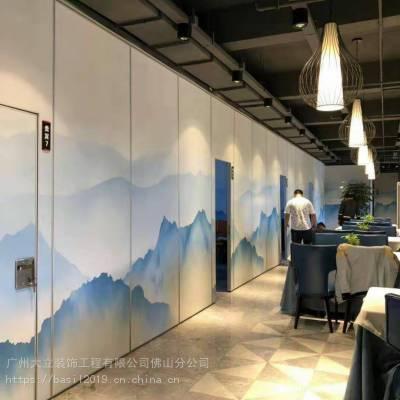 佛山大立酒店隔断工厂 定做展厅移动隔板 画廊活动展板 木饰面隔断 KTV隔音门