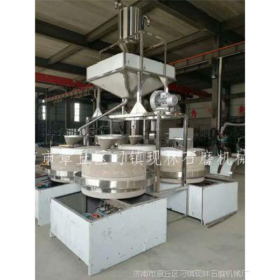 花生米脱皮机环保燃气炒锅 传统小磨香油 电动石磨香油机豆浆机