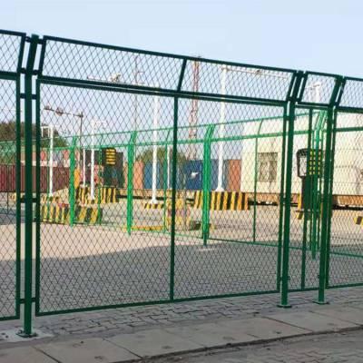 机场护栏厂家雷泰供应机场隔离栅 飞机场护栏 Y型柱护栏 监狱护栏 墨绿色