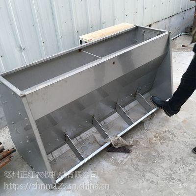 不锈钢双面食槽 不锈钢双面料槽 隔板不锈钢食槽不锈钢食槽
