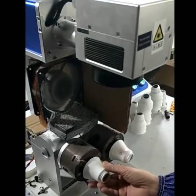 大鹏激光LED灯罩左右2个工位 双旋转台 激光打标机
