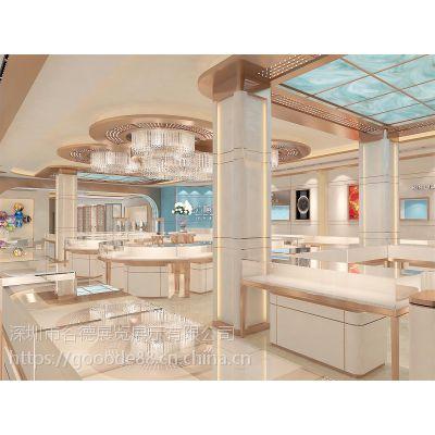 金六福珠宝展示柜 ***品货架 玻璃柜台 谷德设计制造 G08 1200*550*950
