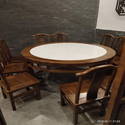 倍斯特古典中式餐桌椅主题创意中餐湘菜实木官帽椅厂家定制
