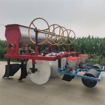 亚博国际真实吗机械 人力手推蔬菜播种机 娃娃菜四行播种机 拖拉机带动娃娃菜精量播种机