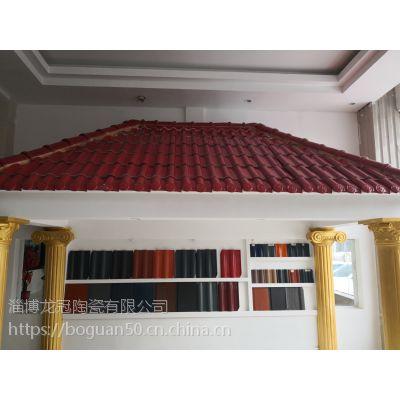 300*400mm陶瓷屋面彩瓦平板瓦单波瓦江北瓷瓦***