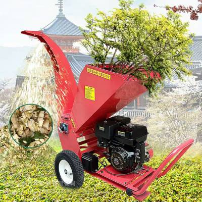 丽鸿 果树树枝树杈粉碎机 新型移动式树枝粉碎机 柴油款小型枝条破碎机