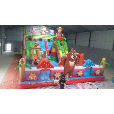 充气儿童蹦蹦床现在好做啊 城堡型气垫床到哪定做 小孩娱乐场大型充气滑梯