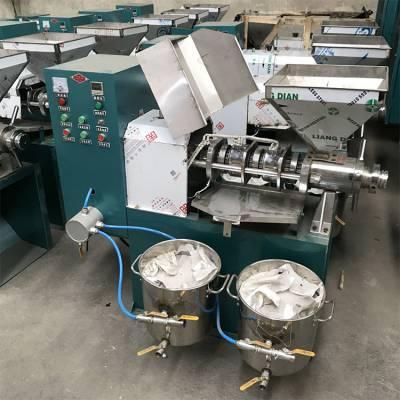 新型冷热两用螺旋榨油机 全自动菜籽花生芝麻压榨机 150型大豆螺旋炸油机