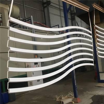 酒店大堂定制弧形铝方通 白色弧形铝格栅厂家