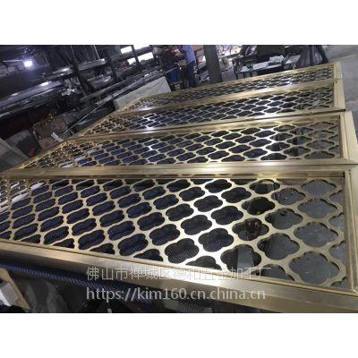 汕尾不锈钢屏风 客厅不锈钢花格 通花 镂空隔断 中式钛金玄关德和
