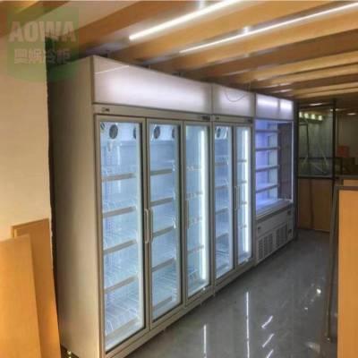 阳江便利店酒架 奥娲豪华酒柜量大从优 天猫双门不锈钢酒柜机械