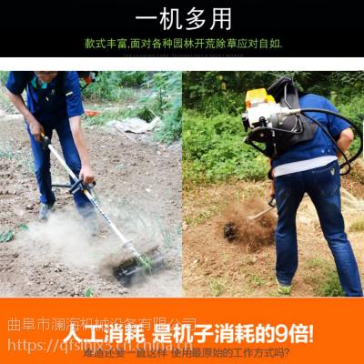 花卉汽油除草机割灌机 背负式割草机 山区手推式锄草机