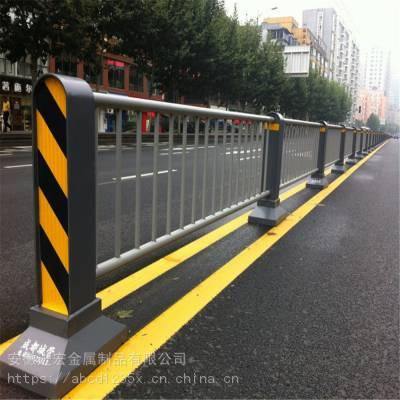 道路护栏交通设施城市围栏马路隔离栏市政栏杆人行道防撞河道分流