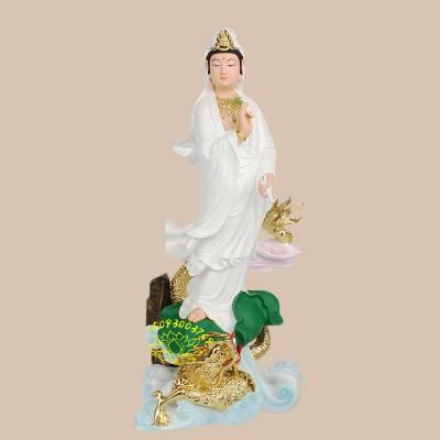 2.3米白衣观音大士佛像 观自在南海观世音菩萨 彩绘观音娘娘像