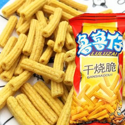 供应鲁鲁仔干烧脆膨化食品生产线薯条龙卷酥设备