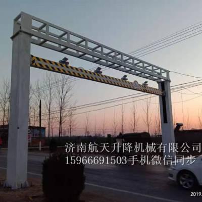 唐山迁西县 道路限高架厂家 智能升降限高架 固定升降限高杆 热镀锌限高杆 专业设计安装