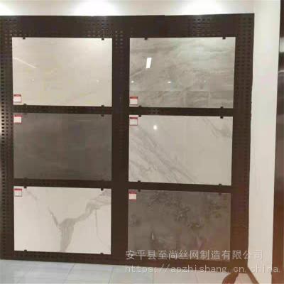 墙砖冲孔板展架 方孔金属板 网孔板展示架生产厂家