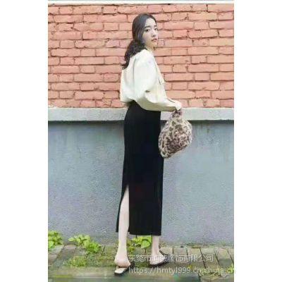 河北冬季哪里有好看又时尚半身裙批发 韩版女士半身连衣裙批发 厂家一手货源服装批发