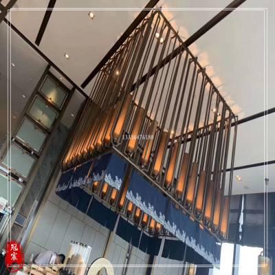 展览厅定制青古铜不锈钢屏风冠宸不锈钢厂家供应