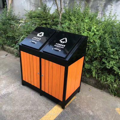 钢木户外垃圾桶环保垃圾桶厂家直销 环卫桶 果皮桶 福建博锐厂家