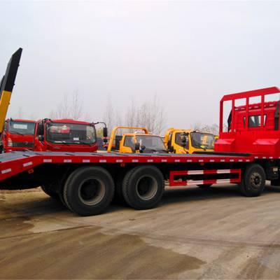 解放J6后八轮挖机平板拖车厂家直销0.8L排量