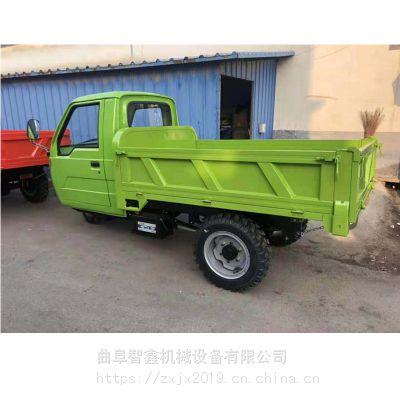 广东热卖18马力柴油工程三轮车 工地三轮车方向盘 液压自卸三马车价格