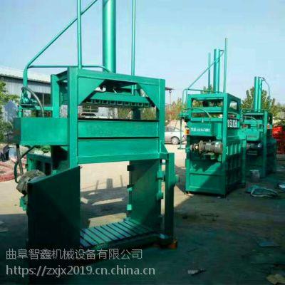 广东塑料瓶打包机 30吨易拉罐油漆桶压扁机 铁屑铁刨花压块机厂家