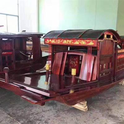 河南焦作木船厂家定制2.5米仿古嘉兴红船