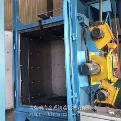 青岛滨海金成钢管内外壁路面抛丸机图片厂家直销