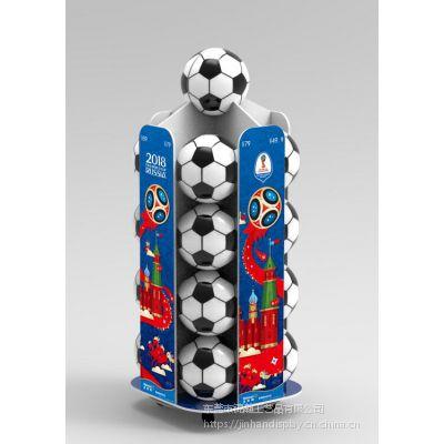 东莞工厂足球展架锦瀚定制安迪板PVC塑料雪弗板亚克力物料展示架