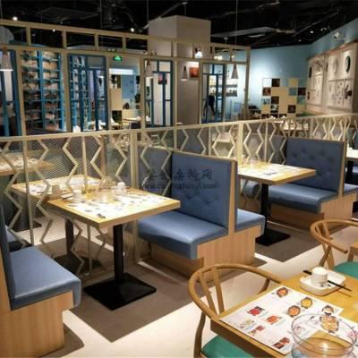 小龙虾美食餐厅卡座沙发定做,个性板式卡座桌子组合
