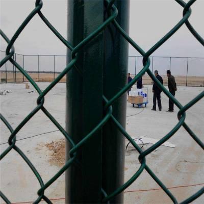 操场围挡厂家直销 小区围墙护栏网 笼式浸塑勾花隔离挡网