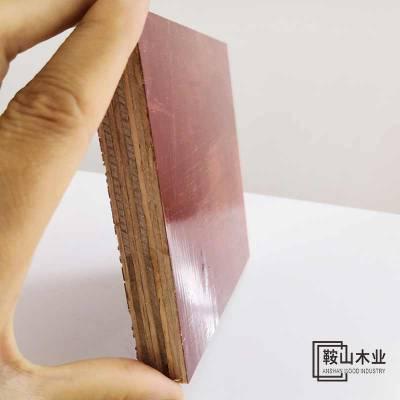 工程模板高使用率五星级 建筑工程 贵港酚醛胶模板木业 建筑大红板