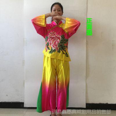 秧歌服2018新款成人女中老年扇子舞演出服古典舞民族风广场舞服装