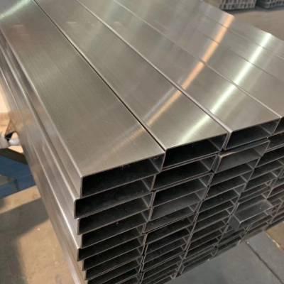 19.05x38.10x1.65不锈钢方管磨砂316l不锈钢方管安防升降柱用管