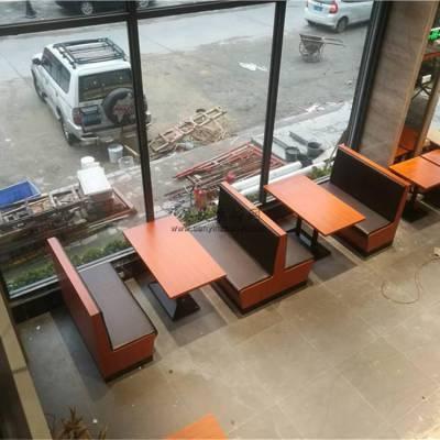 阳江地区卡座沙发定做厂家,中餐厅卡座桌子案例展示