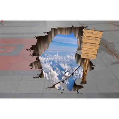 布吉公司生产的3D地贴喷绘该怎么安装 汇美喷绘