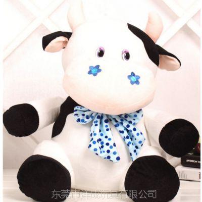 毛绒玩具定制企业吉祥物小动物牛填充优质PP棉来超柔短毛绒图来样免费设计打样