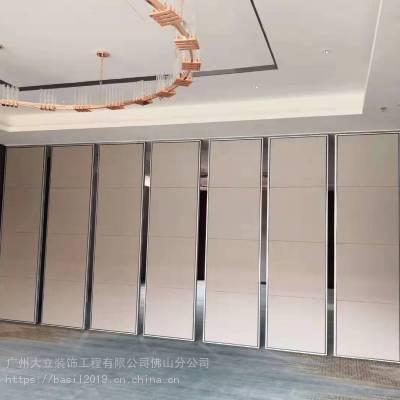 江苏地区隔断工厂 壁画移动隔断 活动折叠移门 木饰面屏风 酒楼包间隔断