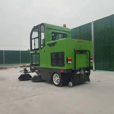 江苏苏州马路电动清扫车 带驾驶室电动扫路车 鸿哲 工厂多功能扫路车