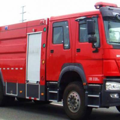 湖北江南重汽豪沃后双桥16吨消防车 -重汽消防车-重汽消防车厂家