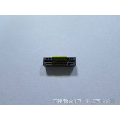 原装 LOTES M.2 VITICAL插槽 NGFF SSD 接口 67PIN E位直立式