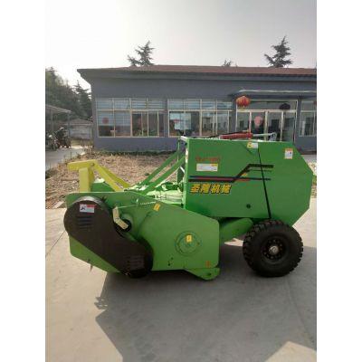 玉米秸秆粉碎打包机 行走式收割玉米秸秆粉碎打包机