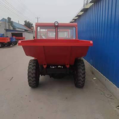 厂家生产的前卸式翻斗车_15马力工地用液压自卸翻斗车