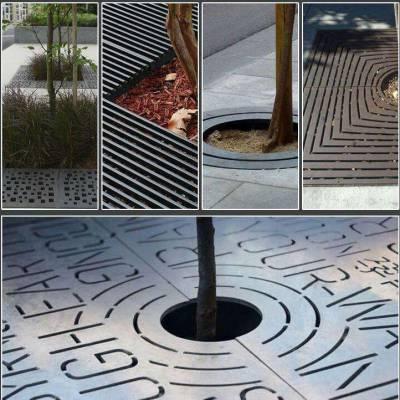 烟台铸铁树篦子铸铁雨水篦子树穴铸铁盖板