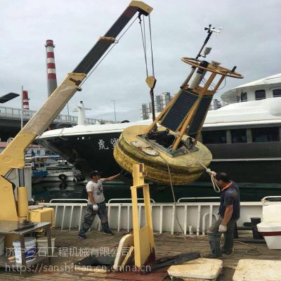 江苏连云港码头8吨固定吊 8吨船吊价格 优质船吊起重机图片
