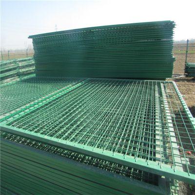 双边丝边框隔离网 绿色包塑铁丝网围栏网 南阳果园围栏防护网厂家直销