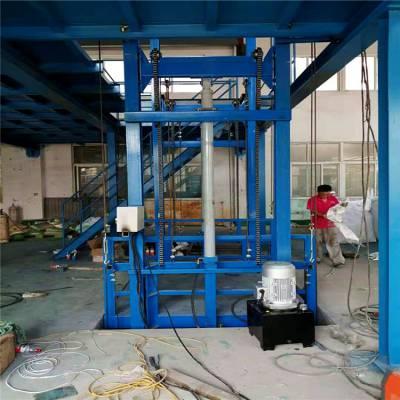 鹤岗市导轨升降货梯 定做1吨/2吨/3吨/4吨/5吨导轨式升降机 液压升降机