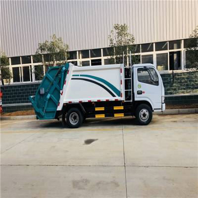 东风5070型号5吨压缩垃圾车报价 分期报价的环卫垃圾车清运车