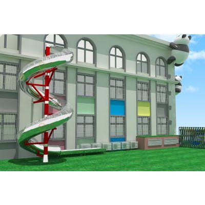 户外幼儿园滑梯 大型木质拓展滑梯 儿童攀爬架组合 亲子乐园钻洞爬网 北京同兴伟业直销定制